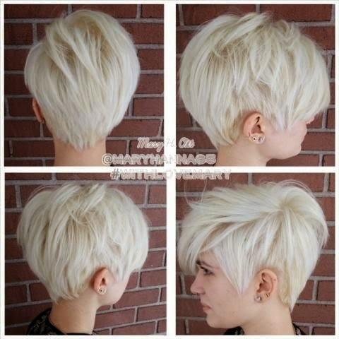 Coupe de cheveux court blond 2018