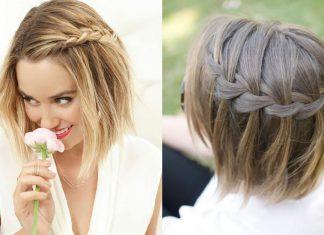 Coiffure cheveux court femme tresse - Coiffure mariage detache ...