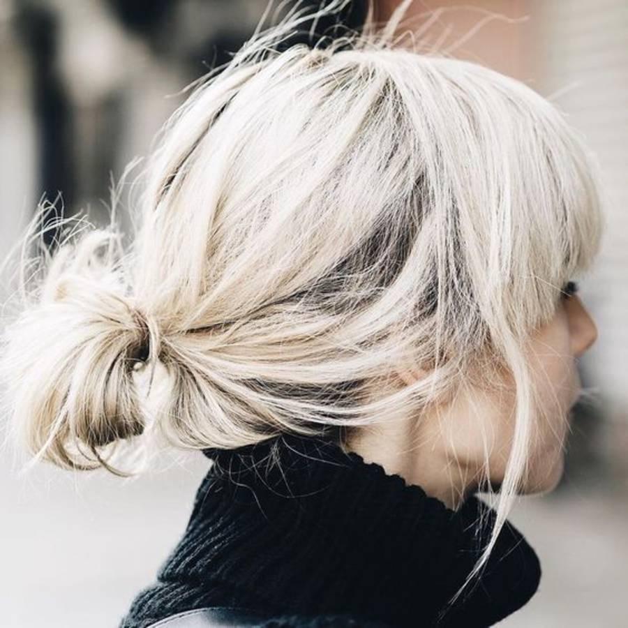 Coiffure Cheveux Mi Long Chignon Coiffure Simple Et Facile