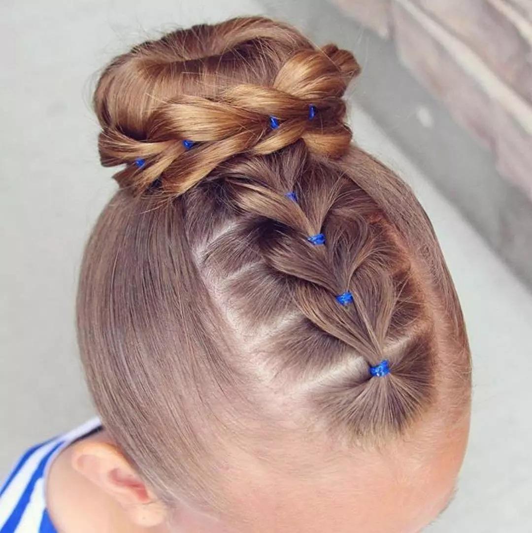 Magnifiques coiffures pour petite fille 2017 coiffure simple et facile - Coiffure fille simple ...