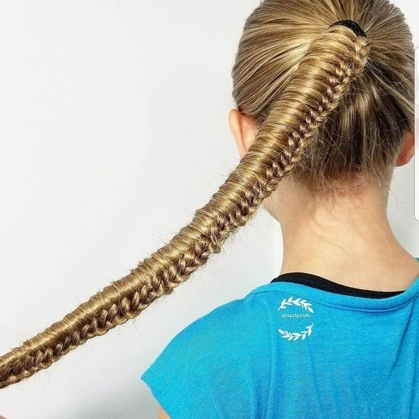 Modele de coiffure facile pour petite fille