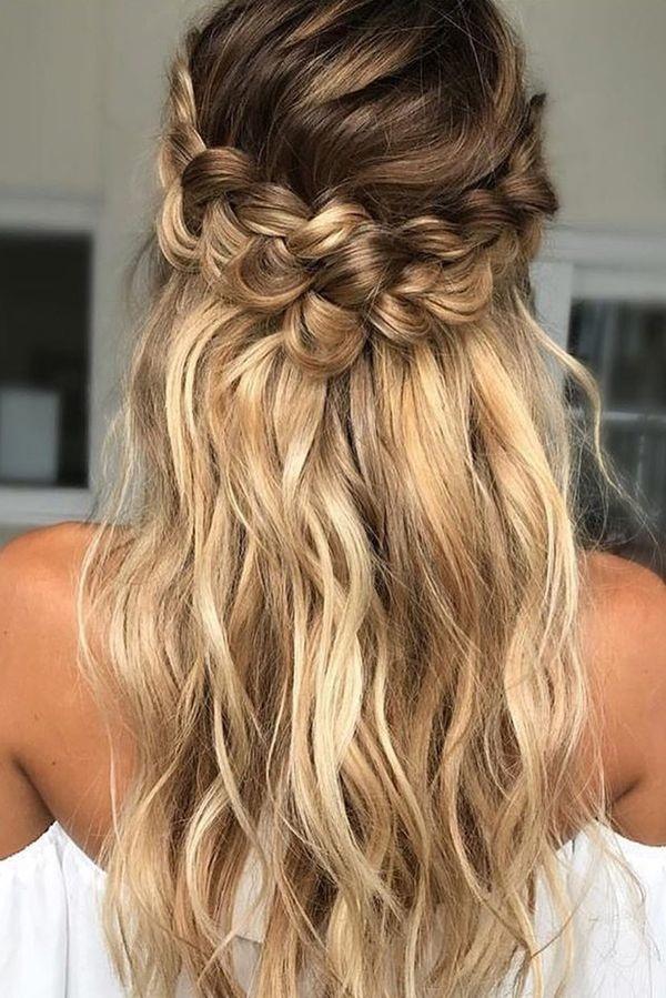Modèles de coiffures de mariage tendance 2018 | Coiffure simple et facile