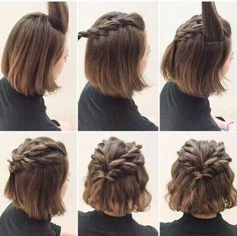Idee de coiffure cheveux mi long facile