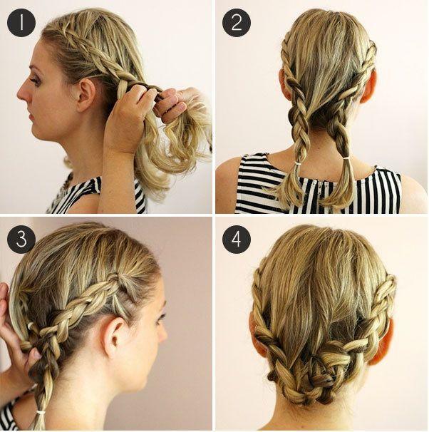 Coiffure Facile Cheveux Court Et Fin Coiffure Simple Et Facile