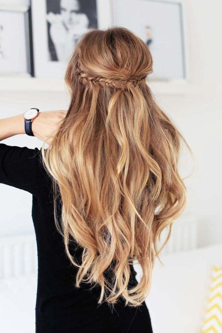 idées coiffures faciles cheveux longs   Coiffure simple et facile