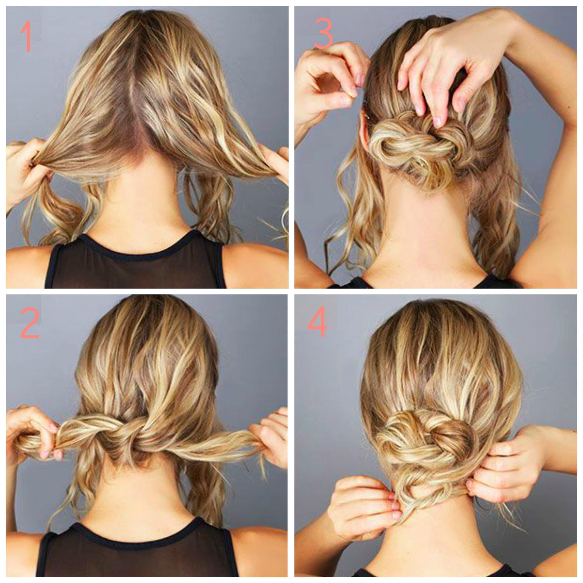 tuto coiffure cheveux court facile et rapide   Coiffure ...