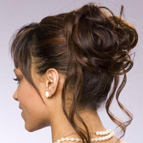 chignon cheveux mi long | Coiffure simple et facile