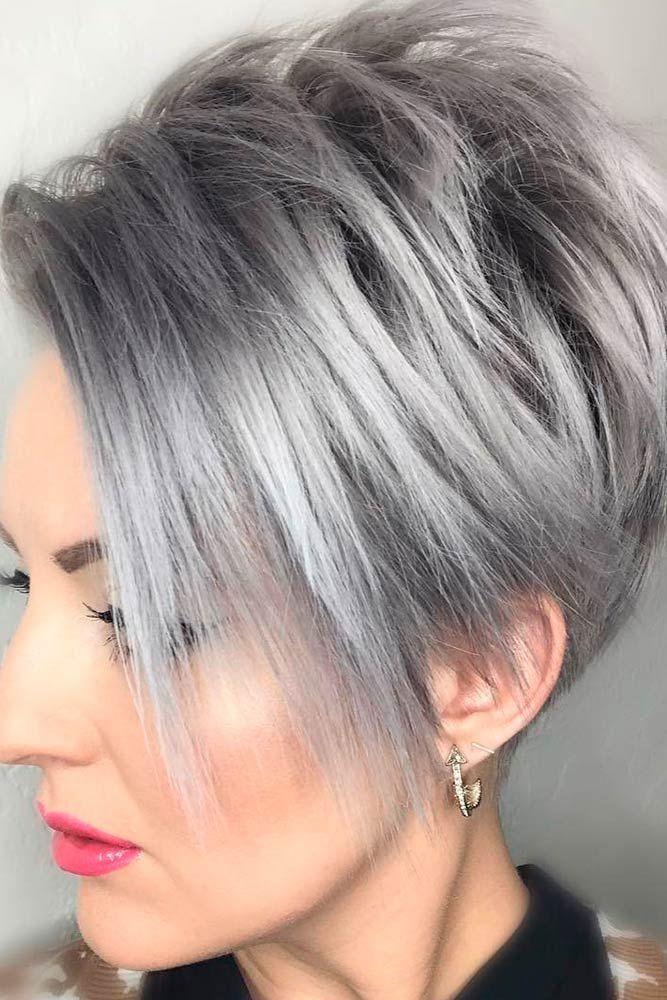 Coupe courte pour cheveux bruns
