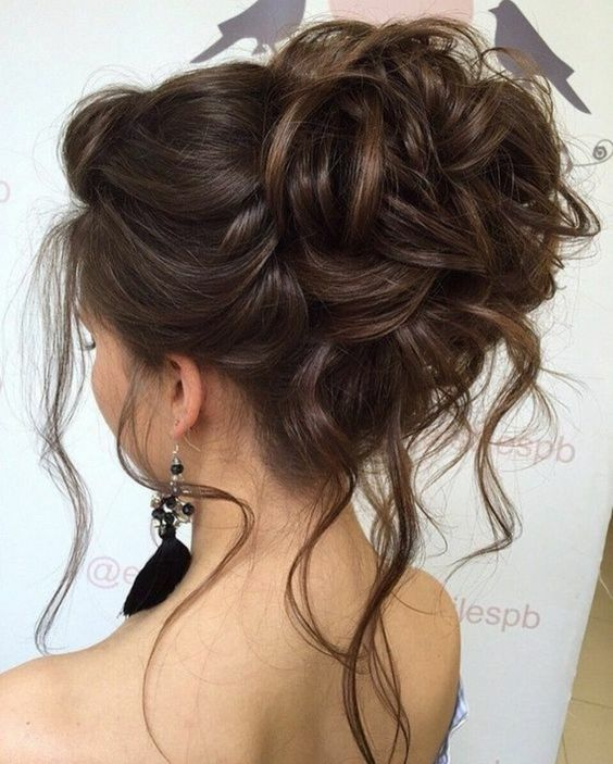 10 Beautiful Updo Hairstyles For Weddings 2019: Chignon Simple Et Rapide Pour Cheveux Mi-long