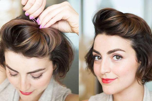 une coiffure pour cheveux court | Coiffure simple et facile