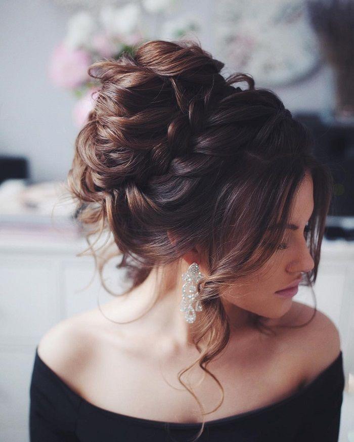 chignon cheveux mi long   Coiffure simple et facile