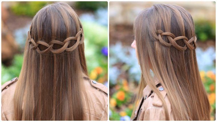 Coiffure Simple Et Rapide Cheveux Mi Long Coiffure