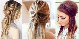 Idee coiffure facile cheveux long