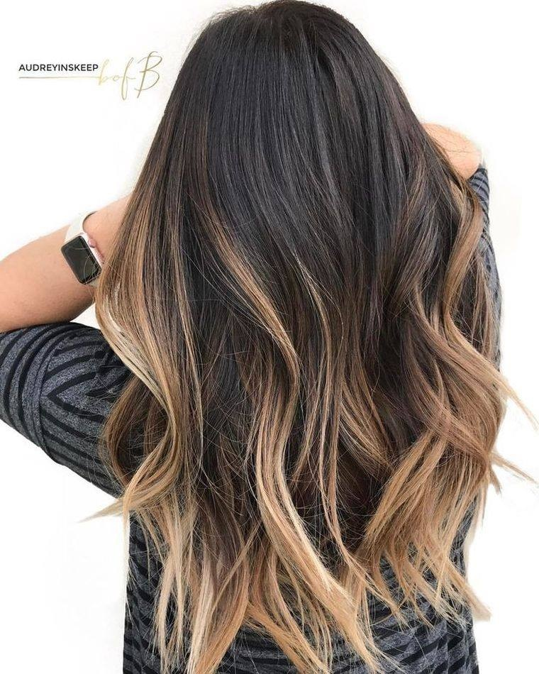 black ombre hair tumblr