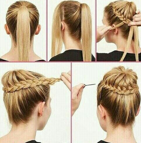 Coiffure Cheveux Attaches Simple Coiffure Simple Et Facile