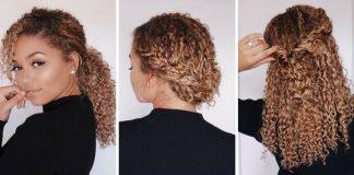 Coiffure Cheveux Boucles Coiffure Simple Et Facile