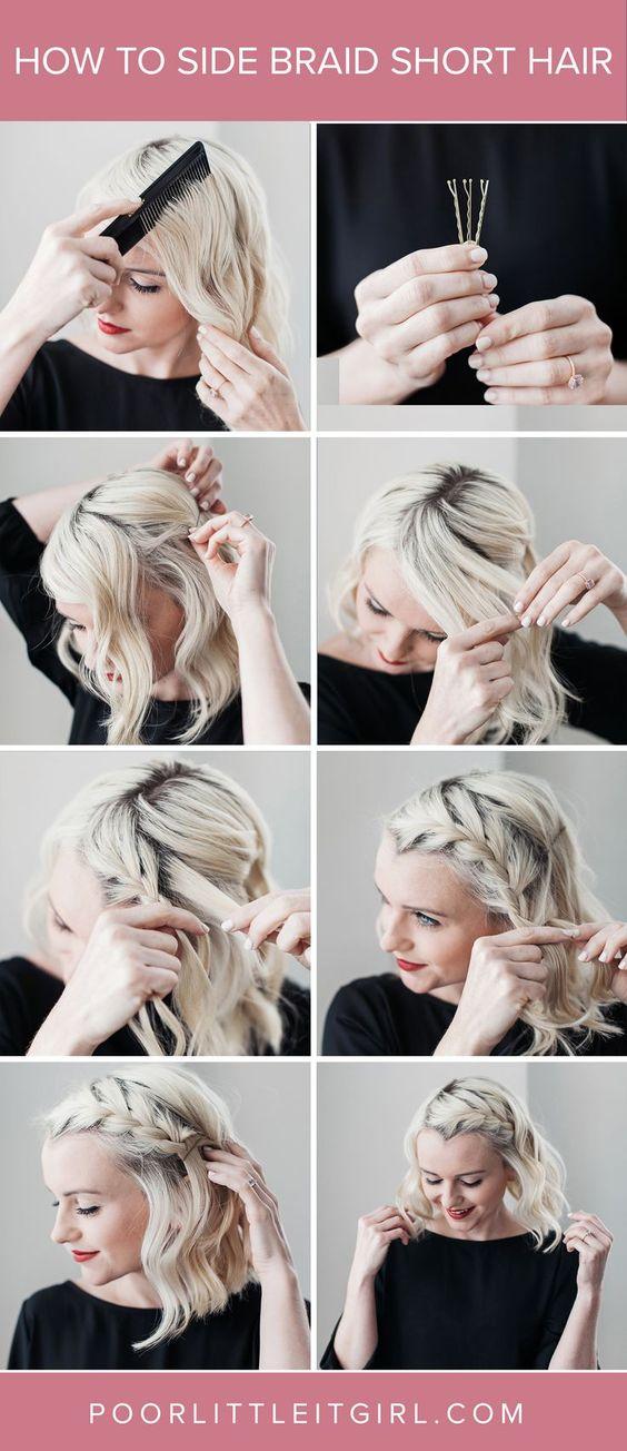 Coiffure Cheveux Court Coiffure Simple Et Facile