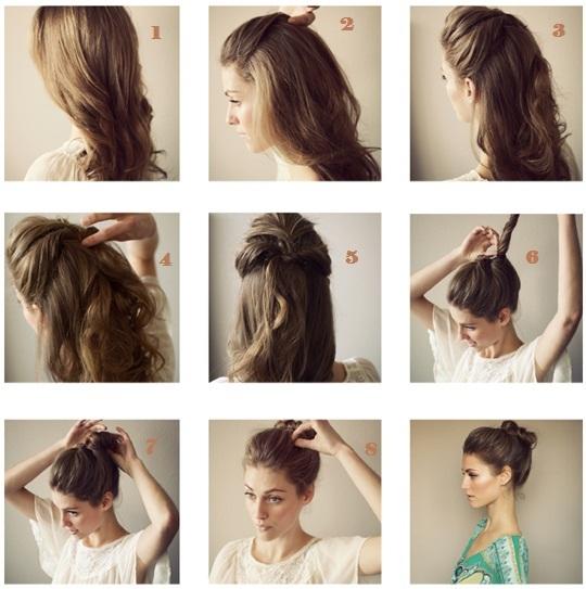Coiffure cheveux long degrade attache
