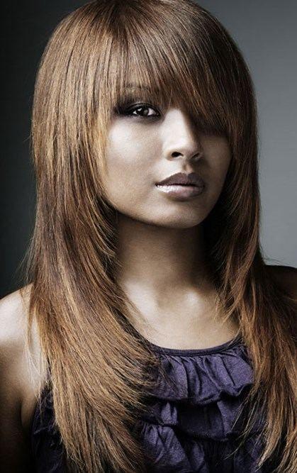 Coupe Cheveux Long Visage Rond Coiffure Simple Et Facile