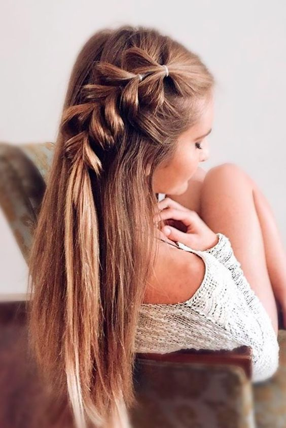Tresse cheveux mi long a faire soi mme Coiffure simple