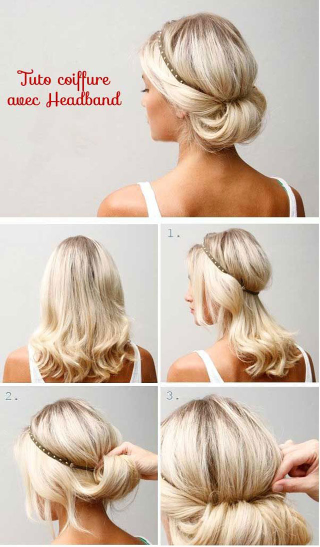 how to get nice hair style chignon facile cheveux mi a faire soi m 234 me coiffure 7503 | 10