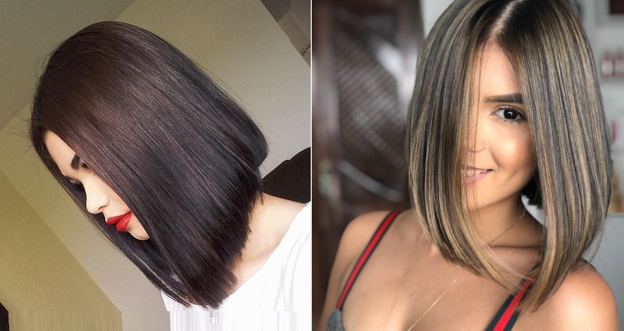 Coupe : carré long plongeant | Coiffure simple et facile