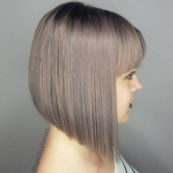Haircut bob layered on top