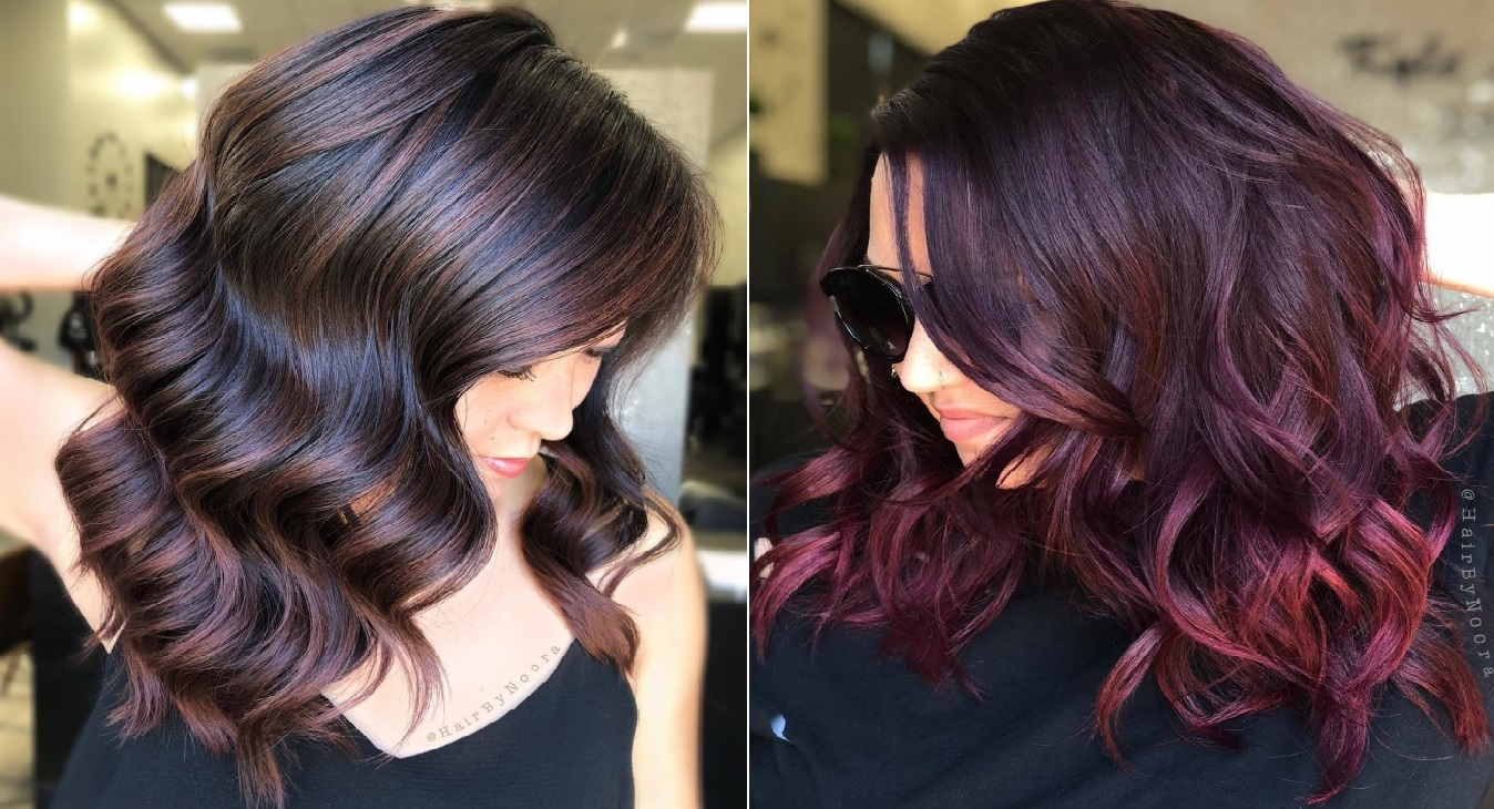 sangria hair color : la couleur cheveux 2019 pour les brunes