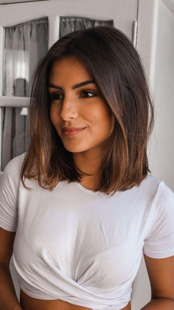 Coupes cheveux mi-longs tendance été 2019   Coiffure simple et facile