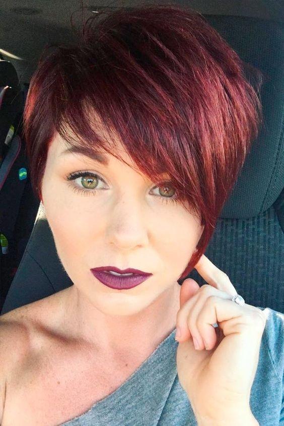 Cheveux Rouge Court Femmes 2019 Coiffure Simple Et Facile