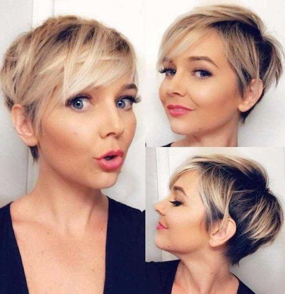 Coupes courtes blondes   Coiffure simple et facile