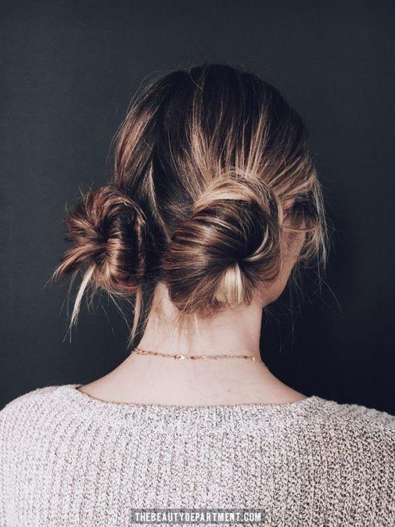 Look du jour chignon haut : une coiffure de tous les jours par excellence | Coiffure simple et ...